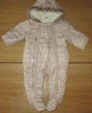 Next Girls Heart Quilted Pramsuit / Snowsuit 3-6 Months