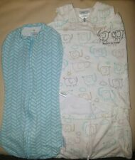 BABY SWADDLE BY HALO AND SWADDLEME SLEEP SACK NB BIRTH TO 3 MONTHS LOT OF 2 EUC