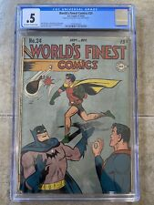 World's Finest #24 CGC 1946 DC Comics Batman Superman Robin