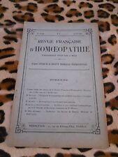 Revue française d'homéopathie n° 4 & 6, 1922