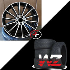 20 Twist Style Black Machined Wheels Tires fits Mercedes AMG E and C Class C250