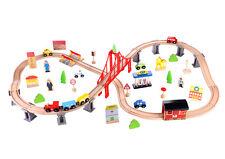 BRAND NEW WOODEN TRAIN SET - 70 PCS - GR8 GIFT IDEA