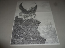 Vintage Dan Thompson Pegasus Winged Horse Print Signed Fantasy Drawing Mythical