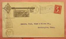1900 CONE CO HEAVY & SHELF HARDWARE KEY ADVERTISING WINONA MN FLAG CANCEL