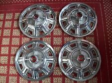 "1966 Ford Fairlane    Set of Four 14"" OEM Spinner Hubcaps"