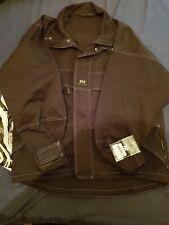 Mens Designer Denim Jacket Black Helly Hansen Battle Jacket Snc53 Medium New Uk