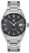 WAR2012.BA0723 NEW TAG HEUER CARRERA CALIBRE 7 TWIN TIME AUTOMATIC MENS WATCH