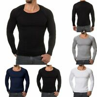 Fashion Men's Slim Fit Long Sleeve T-shirts Casual Tee Shirt Tops Solid Pullover