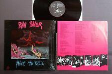 RAW ROWER Mine to kill RAT CAGE RECORDS LP + Lyrics inner MOTR 35!