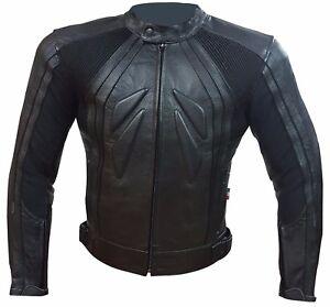Jacke Leder Motorrad Straße Leather Jacket Ce-Protektoren Sfodrabile
