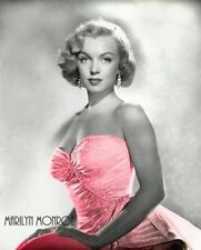 Marilyn Monroe -  Marilyn in pink dress, Colorized