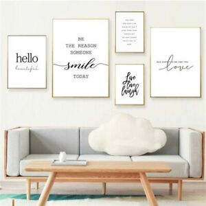 Wall Art Posters Life Quotes Nordic Canvas Painting Fresh Minimalist Living Room
