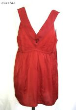 COTELAC - TOP TUNIC FITTINGS RED SIZE 4 = 42/44 - MINT