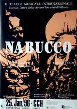 VERDI - 1996 - Plakat - Nabucco - Teatro Musicale - Italien - Poster - Hamburg