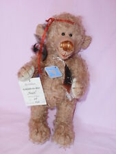Künstlerteddy Bär Bear Teddybär HIPPIE  Schildkröt Zertifikat 40 cm RARITÄT