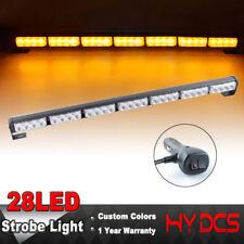"31"" 28 LED 28W Emergency Warning Traffic Advisor Strobe Light Bar Amber/Yellow"