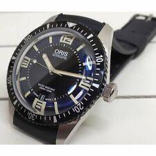 Oris Divers 65 Sixty Five 733 7707 4064r Automatic Dark Blue Dial Rubber Belt