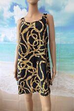 Bon Prix Collection Black chain detail short tunic / beach dress sz 16 RRP £24