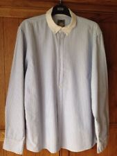 Men's Blue And White Stripped Shirt By Primark Size XL