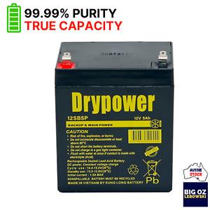 DRYPOWER 12V 5AH Battery | SLA  | Backup, UPS, Cyclic | F1 Term | 99.99% Purity
