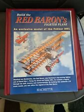 HACHETTE BUILD THE RED BARON'S FIGHTER PLANE FOKKER DR1,COMPLETE WITH MAGAZINES.