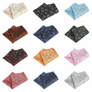 Men's Classic Paisley Handkerchief Hanky Wedding Party High Grade Pocket Square