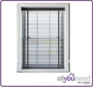 NEW Faux Wood Venetian Blinds With Tapes 50mm Slats Slate