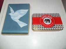 lot de 5 boîtes à biscuits - chocolat Côte d'or Delacre Jules Destrooper