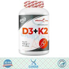 6PAK el Efectivo Línea D3+K2 Vitaminas y Minerales Deporte Comida Suplemento 90