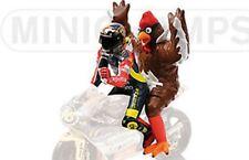 MINICHAMPS 312 980146 ROSSI & chicken figures GP250 Barcelona 1998 1:12th