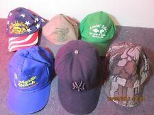 Variety of 6 vintage golf hats ball caps Okeechobee Myrtle Beach Camel Yankees