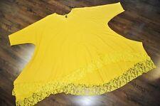 Lagenlook °° arco-ola °° Big-Long-túnica ° Jersey + punta ° solar-amarillo ° XXL, XXXL XXXXL,