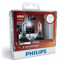 Philips HB4 X-TREME Vision Car Bulb Headlight Globes 100% More Maximum Legal