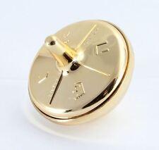 1 Plastic Gold Colour FILLABLE DREIDEL . . . . .Jewish Spinning Chanukah Judaica