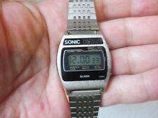 Reloj de pulsera hermosas __ Sonic __ alarma ___ vintage LED-reloj ____