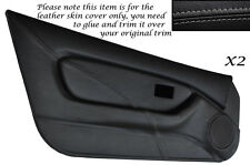 GREY STITCH 2X FULL DOOR CARD TRIM LEATHER SKIN COVERS FITS MG MGF MK1 95-99
