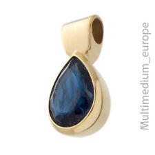Pierre Lang Anhänger blau massiv vergoldet signiert pendant gilt blue 🌺🌺🌺🌺🌺