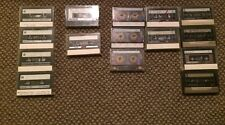 Lot of 15 Used Audio Cassette Tapes Memorex ,Scotch, Fuji, TDK Comedy music etc.