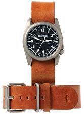 Bertucci Heritage 13459H Black / Scotch Veg Leather Analog Quartz Unisex Watch