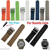 Luxury Nylon Replacement Watch Strap Wrist Band 3 Ring Lugs+Tool For Suunto Core