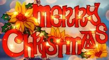 Merry Christmas 20 LED Light up Sign Festive Xmas Home Party Window Decoration