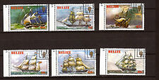 """""""BELIZE  série 6 timbres # 609-614  Les voiliers de 1830/1850  E113"""
