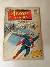 SUPERMAN in ACTION #214 BATTLE SHIP COVER, 1956, MOST WANTED MAN IN SPACE