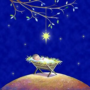 Charity Christmas Cards Star Over the Crib 15.5 x 15.5cms (Pack of 10)