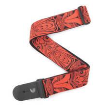 """D'addario 2"""" Guitar Strap, Tiki Mask - Red"""