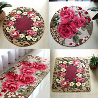 Floral Room Floor Mat Sweet Rose Print Carpet Living Room Designer Flower Rug