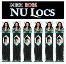 "Bobbi Boss Nu Locs 18"" Hand Made Pre Loop Crochet (6 Pack / Color #1B)"