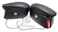 Large Mutazu Universal Detachable Hard Motorcycle Saddlebags Bags, Matte black
