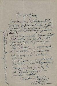 Joséphin PELADAN - Lettre autographe signé. L'Initiation sentimentale et Guaita