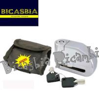 6946 - BLOCCADISCO CON PIOLO 6 MM SONORO CON BORSA PIAGGIO SCOOTER - BICASBIA
